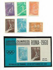 PANAMA 1960 OLYMPIC GAMES ROMA 1960 SET + SS MNH Scott 433/4, C234/7a
