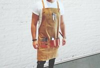 BARBER PRO Barber Apron Cape Gown Waxed Canvas DESERT SAND