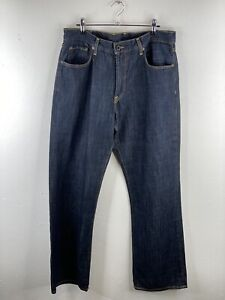 Lucky Brand Men's Denim Jeans Size 34 Blue Bootcut with Pockets Zip Close