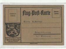 Flugpostkarte - Flugpost Rhein und Main - Postluftschiff Schwaben -Uengershausen