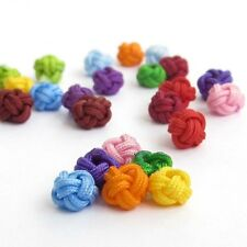 60Pcs Multi-Color Silk Cord Knitted Beads Finding--Jewelry Accessory