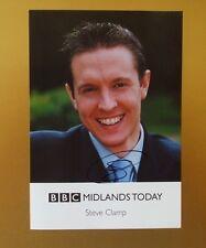 GENUINE AUTOGRAPHED PHOTO ~ POSTCARD SIZE ~ STEVE CLAMP [ BBC MIDLANDS TV ]