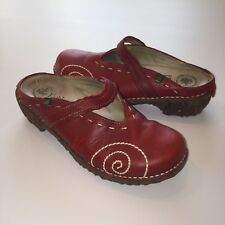 El Naturalista Yggdrasil N096 Mules Size 36 US 6 Tibet Red Leather Clogs Shoes