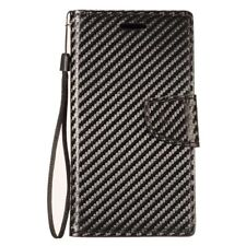 for LG K30 Carbon Fiber Leather Premium Wallet Pouch Flip Phone Case Cover