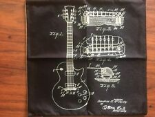 Guitar Diagram Style Linen Square Pillow Cushion Cover.