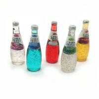 Dollhouse Mixed Color 5Pcs Chia Seed Fruit Juice Drink 1:6 Miniature Model Decor