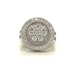 Sterling Silver 925 Men's Ring With Cubic Zirconia CZ Size 8