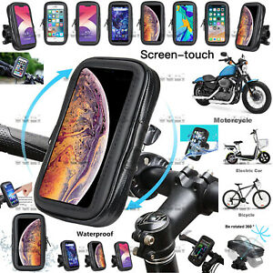 360° Motorbike bike Bicycle Waterproof Phone Mount Case Holder For Mobile Phones