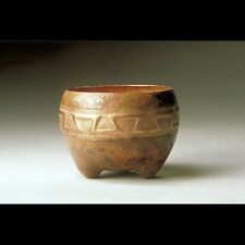 New Hand Hammered Aztec Copper Bowl - Free Shipping