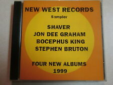 NEW WEST RECORDS SAMPLER 1998 PROMO 10 TRK SHAVER BOCEPHUS KING STEPHEN BRUTON