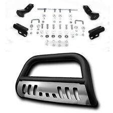 Black Steel Front Bumper Bull Bar Grille Guard Skid Plate For Ford F150