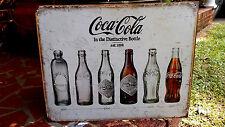 Coke Bottle Evolution Coca Cola Vintage Retro Antique Style Metal Tin Sign New