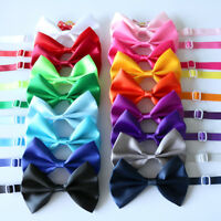 New Pet Dog Cat Solid Bow Ties Adjustable Dog Bowties Dog Accessory Pet Supplies