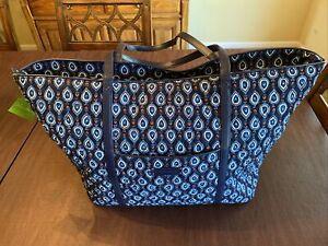 NEW Vera Bradley tote/traveler - Blue Print