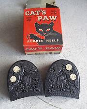 Vintage 1950s Cat's Paw Twin Grip Rubber Shoe Heels 9-10 in Box