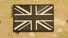 BLACK PVC UK FLAG UNITED KINGDOM UNION JACK MORALE PATCH ENGLAND BRITISH