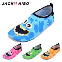 JACKSHIBO Toddler Kids Aqua Socks Quick Dry Non Slip Swim Water Beach Shoes
