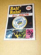 "VINTAGE NEW OLD STOCK SEALED 1968 RAH RAHS NHL LOS ANGELES HOCKEY PIN 2 1/4"""