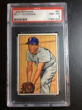 1952 Bowman #81 Billy Goodman Boston Red Sox PSA 8