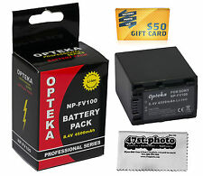 NP-FV100 Battery for SONY Handycam HDR-CX760V CX430V CX380 CX290 CX230 4500mAh
