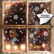 décor de fenêtre XXL Flocons neige set réutilisables blanc 120 AUTOCOLLANT 12337