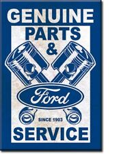 GENUINE FORD PARTS & SERVICE, PISTONS Retro Vintage Tin Sign Magnet Made in USA