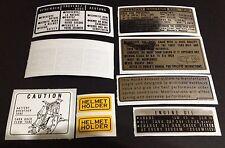 "HONDA CB750 F1/F2 HONDA CB750 FOUR SUPER SPORT 1976/1977 ""WARNING KIT DECALS"""