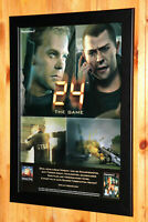 24 The Game Rare Small Poster / Old Ad Page Framed PS2 PlayStation 2