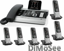 "►► Gigaset DX800A VoIP - ISDN - Analog ""All in one"" + 6 Mobilteile S850HX ◄◄"