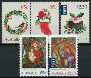Australia Christmas Stamps 2020 MNH Nativity Decorations Pudding 5v Set