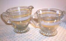 Depression Clear Glass Creamer & Open Sugar Bowl Set~ Rare ~