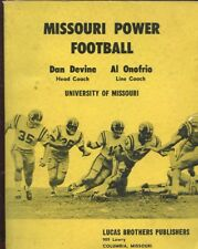 VINTAGE 1961 UNIVERSITY OF MISSOURI TIGERS POWER FOOTBALL DAN DEVINE SIGNED BOOK