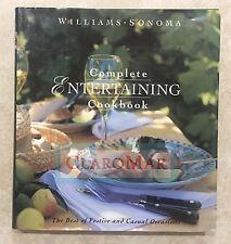☀️ Williams-Sonoma Complete Entertaining Cookbook Food & Dining Hardcover LARGE