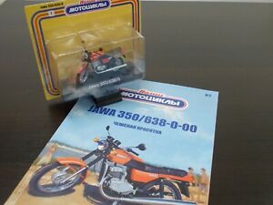 1:24 JAWA 350 638-0, 1985-1990, #02 Our Motorcycles, Modimio
