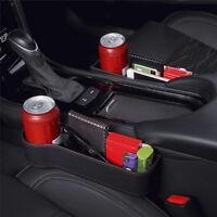 Car Seat Crevice Storage Box Cup Holder Organizer Auto Gap Pocket Stowing One