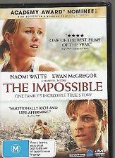The Impossible (DVD, 2013) - Naomi Watts, Ewan McGregor, Tom Holland