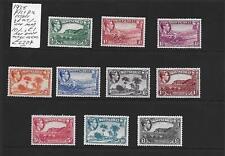 Montserrat Stamp Collection George VI 1938 p13 p12 umm mm inc umm £1.SG Cat:£220