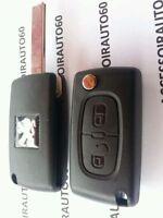 ASK Clé Télécommande Complète Peugeot 207 * 307 * 308* CE0536*433mhz 2 boutons