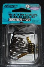 OWNER BLACK CHROME STINGER Treble Hooks 5636-131 Size 3/0 Super Needle Pack of 5