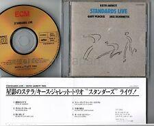 KEITH JARRETT Standards Live JAPAN 24k GOLD CD J25J-29022 w/PS+INSERT Free S&H