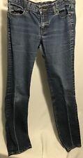 New York & Company Womens Jeans Size 8 Averag Skinny Leg Dark Blue Wash Low Rise