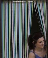 Holland Plastics Standard PVC Strip Door BLIND 80 x 200  Pastel Multi [6431]
