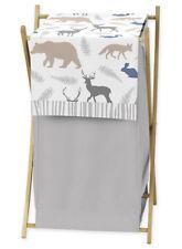 Sweet Jojo Kids Baby Clothes Laundry Hamper For Safari Animal Grey Bedding Set