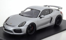 1/18 Scale 2016 Porsche Cayman 981 GT4 Silver by Spark