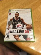 NBA Live 09 XBox 360 Complete Game 2008