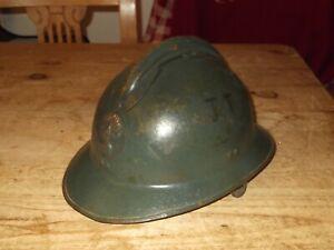French M26 World War Two Adrian Pattern Steel Combat Helmet