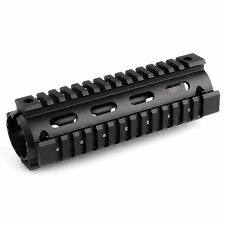 "223 6.7"" inch Quad Rail Handguard 2-pc Drop In Carbine Length 6061-T6 aluminum"