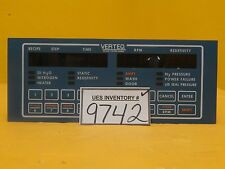Verteq 1600-55A SRD Spin Rinse Dryer Controller Panel Used Working