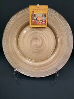 6 TURKISH DELIGHTS HOLIDAY CHRISTMAS GOLD SILVER SPARKLE DINNER PLATES