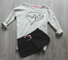 Girls M&S Age 9/10 Two Piece Short and Top Set Bnwt